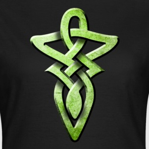 Schwarz tribal_knot_green T-Shirts - Frauen T-Shirt