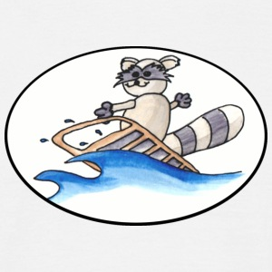 Surfing Racoon for Boys - Männer T-Shirt