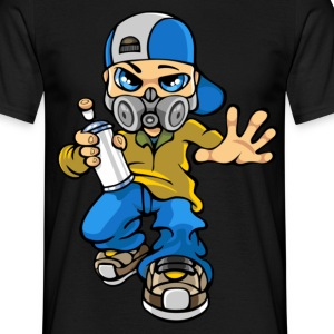 Graffiti boy and mask - Men's T-Shirt