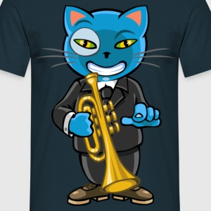 Cat and jazz - Men's T-Shirt