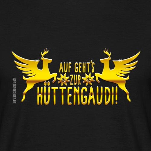 Hüttengaudi, Schriftzug
