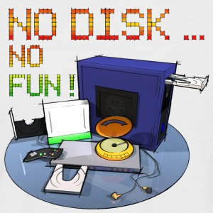 No Disk No Fun 3000x3000 - DIGITAL T-Shirts - Männer Baseball-T-Shirt