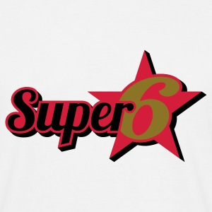 Weiß Super 6 © T-Shirts - Mannen T-shirt