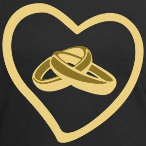 Ring, wedding T-shirts - Kontrast-T-shirt dam