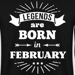legends are born in february Geburtstag Februar Pullover & Hoodies - Männer Pullover