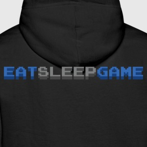 Eat Sleep Game Gamer Hoodies & Sweatshirts - Men's Premium Hoodie