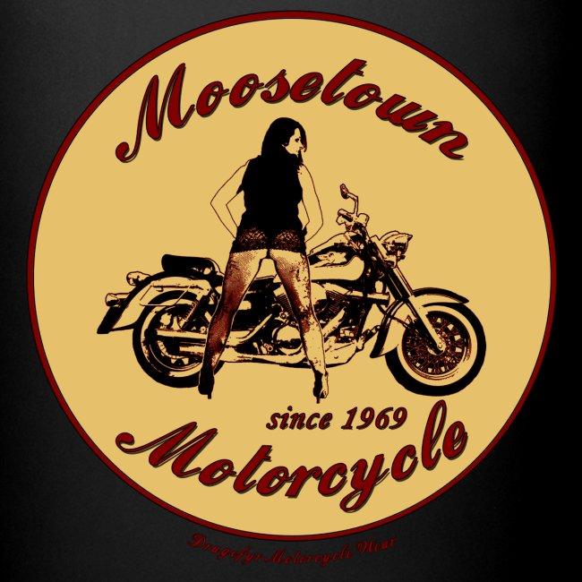 Moosetown Motorcycle   Biker Tasse