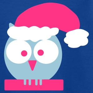 Royal blue owl (christmas) Kids' Shirts - Teenage T-shirt