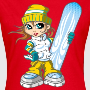 Snow girl and blue snowboard - T-shirt Femme