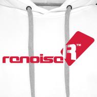 Design ~ Men's Hoodie - Red Renoise Logo