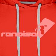 Design ~ Men's Hoodie - Pink Renoise Logo