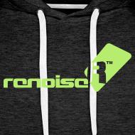 Design ~ Men's Hoodie - Light Green Renoise Logo