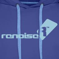 Design ~ Men's Hoodie - Light Blue Renoise Logo