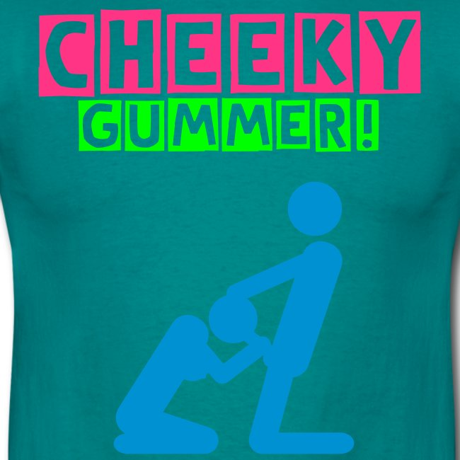 "Men's Neon T-shirt ""Cheeky Gummer"""