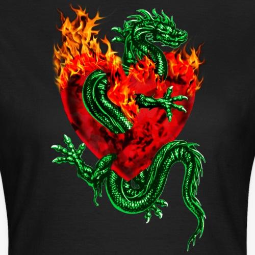 Feuer Herz Drache Liebe Tatoo / Fire Heart Dragon