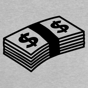 Heather grey Money dollars B&W T-shirt neonato - Maglietta per neonato