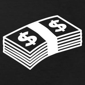 Black Money dollars B&W Kids' Shirts - Kids' Organic T-shirt