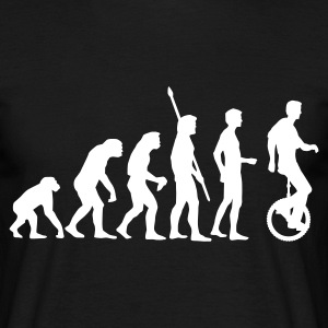 evolution_einradfahrer_1c T-Shirts - Men's T-Shirt