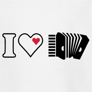 Wit accordeon / Accordion (1c) Kinder shirts - Teenager T-shirt