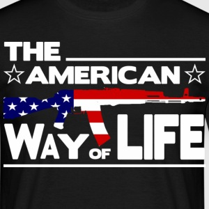 Schwarz THE AMERICAN WAY OF LIFE T-Shirts - Männer T-Shirt