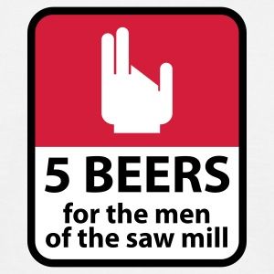 Weiß 5 Beers © T-Shirts - Men's T-Shirt