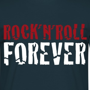 rock and roll textshirt - Männer T-Shirt