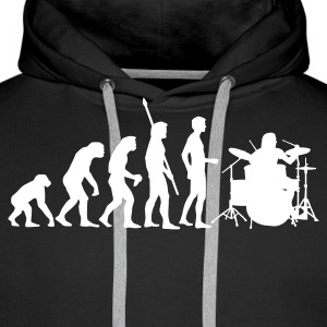 evolution_drummer_1c Hoodies & Sweatshirts - Men's Premium Hoodie