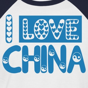 I LOVE CHINA t-shirt - T-shirt baseball manches courtes Homme