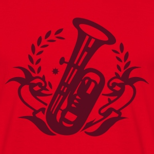 Rouge Tuba Instrument pour brass band T-shirts - T-shirt Homme