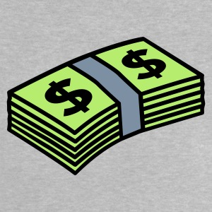 Heather grey Money dollars 3 colors T-shirt neonato - Maglietta per neonato