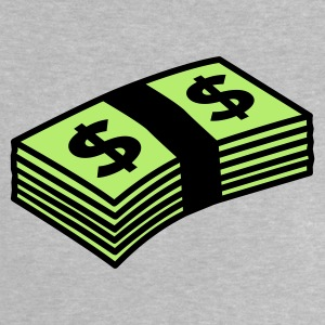 Heather grey Money dollars Color Baby Shirts  - Baby T-Shirt