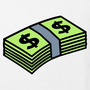 White Money dollars 3 colors Kids' Shirts - Kids' Organic T-shirt