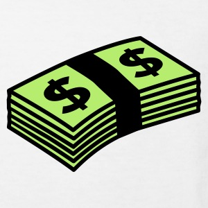 Weiß Money dollars Color Kinder T-Shirts - Kinder Bio-T-Shirt