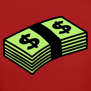 Dunkelrot Money dollars Color T-Shirts - Frauen Bio-T-Shirt