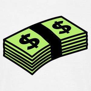 Weiß Money dollars Color T-Shirts - Männer T-Shirt