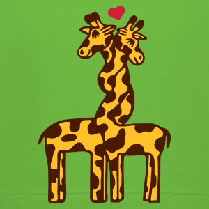 Light green giraffe in love Kids' Tops - Kids' Premium Hoodie
