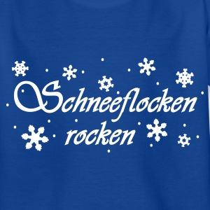 Royalblau Schneeflocken rocken Kinder T-Shirts - Teenager T-Shirt
