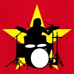 Rot drummer_c_3c Kinder T-Shirts - Teenager T-Shirt