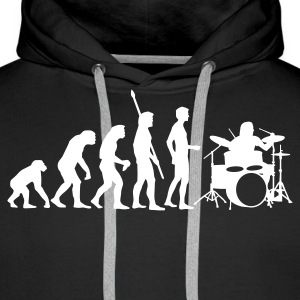 evolution_drummer_b_1c Hoodies & Sweatshirts - Men's Premium Hoodie