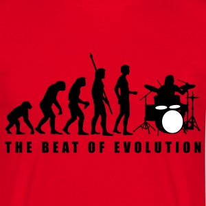 Red evolution_drummer_c_2c Men's T-Shirts - Men's T-Shirt