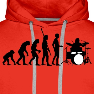 Red evolution_drummer_b_2c Hoodies & Sweatshirts - Men's Premium Hoodie