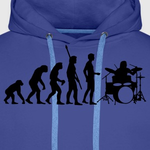 Royal blue evolution_drummer_b_1c Hoodies & Sweatshirts - Men's Premium Hoodie