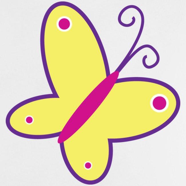 Vrolijke vlinder - kinder- en babyshirt