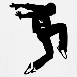 Blanc break dance luxe T-shirts - T-shirt Homme