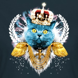 Navy Blue Cat the King - hero - König Krone Held T-Shirts - Frauen T-Shirt
