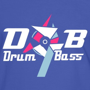 Blue/white D'n'b -  drum 'n' Bass Logo Men's T-Shirts - Men's Ringer Shirt