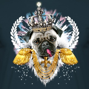 Mops - Pug the King - Crown Krone König - Dog Männer Shirt - Männer T-Shirt