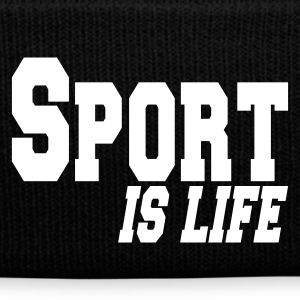 Black sport is life Caps & Hats - Winter Hat
