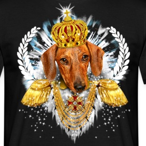 Dachshund - the King - Crown Krone - Dackel König - Männer T-Shirt