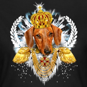 Dachshund - the King - Crown Krone - Dackel König - Frauen T-Shirt